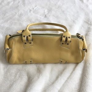 Cole Hann Yellow shoulder bag purse